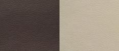 Экокожа коричневый-бежевый