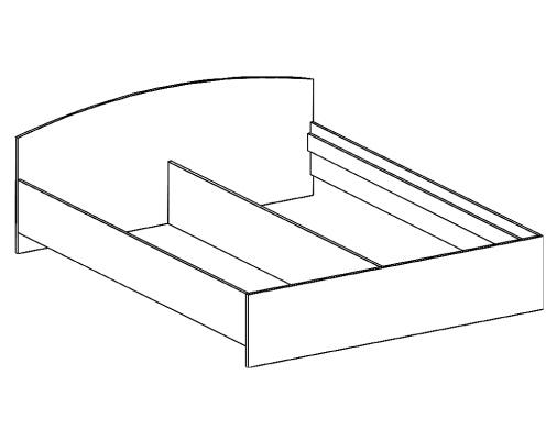 кровать двухспальная БК