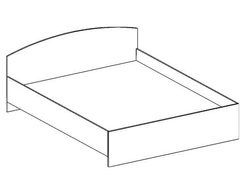 кровать двухспальная БКО