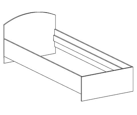 кровать односпальная БК-90