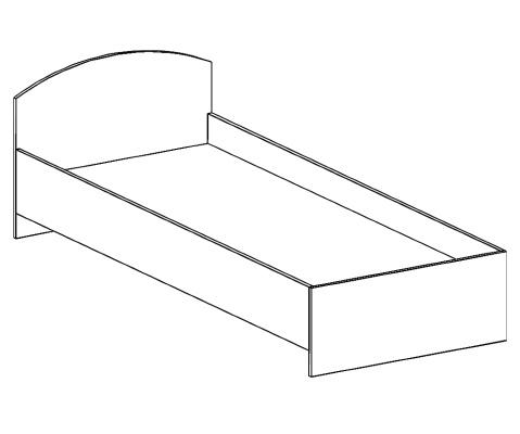 кровать односпальная БКО-90