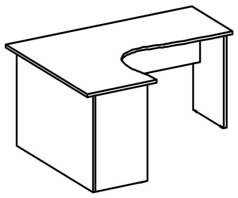 стол криволинейный 203-206