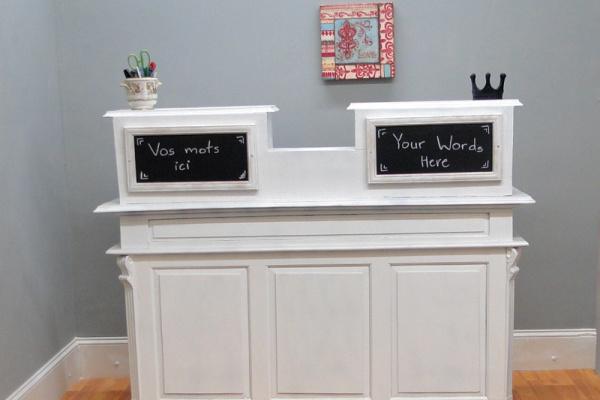 white reception desk for sale Mediterranean Compact