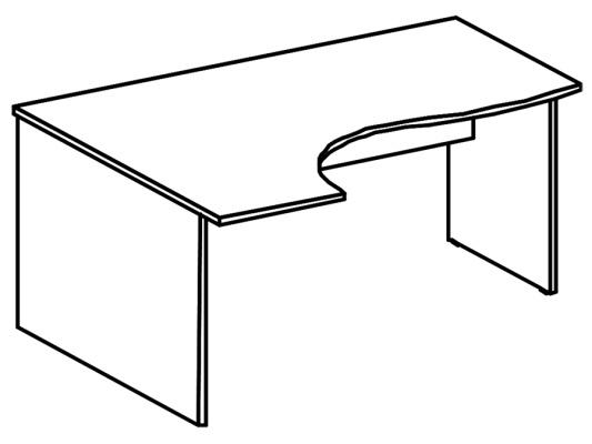 стол криволинейный 200-202