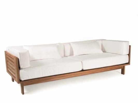 Wood Sofas. V44 Two Cushion Reclaimed Wood Sofa Modern Sofas Los