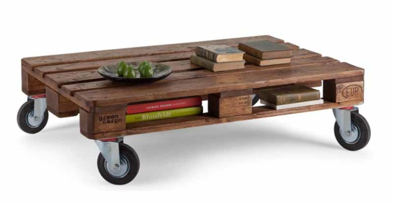 wonderful fancy untreated pallet coffee table design with wheel