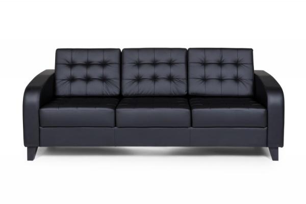 Рольф Вуд трехместный диван, ИК Ecotex, 3001 (черный) (1)